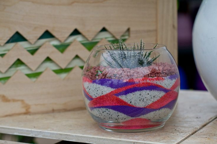 Sand Art Creations. We have gone crazy for cacti and succulents.