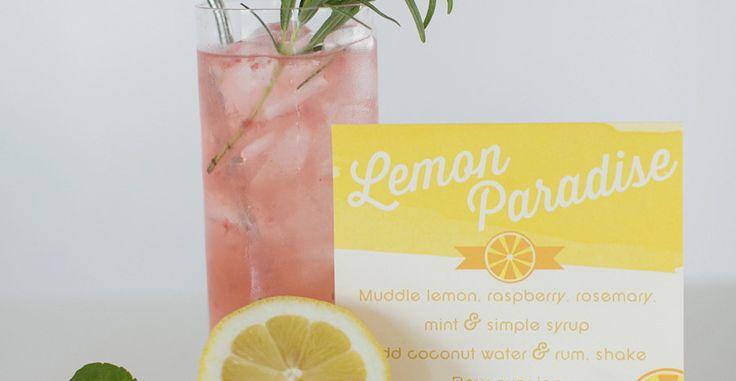 Lemon Paradise Cocktail