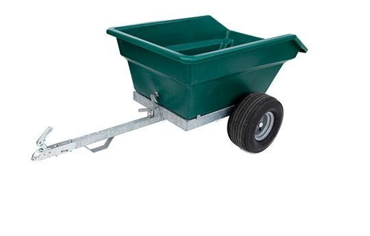 ATV trailer 400 litres. Suitable for ATV quad bikes, compact tractors, ride-on lawn mowers and UTVs. For more info contact us at http://www.fresh-group.com/trailers-trolleys-and-carts.html