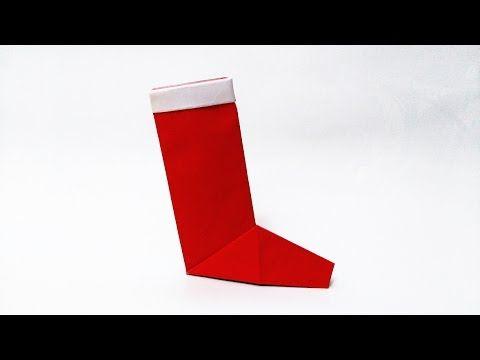 How to make: Origami Christmas Sock