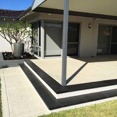 Landscape Design & Construction- Landscapers Perth- City Limits Landscapes- Exposed Aggregate Concrete Driveway