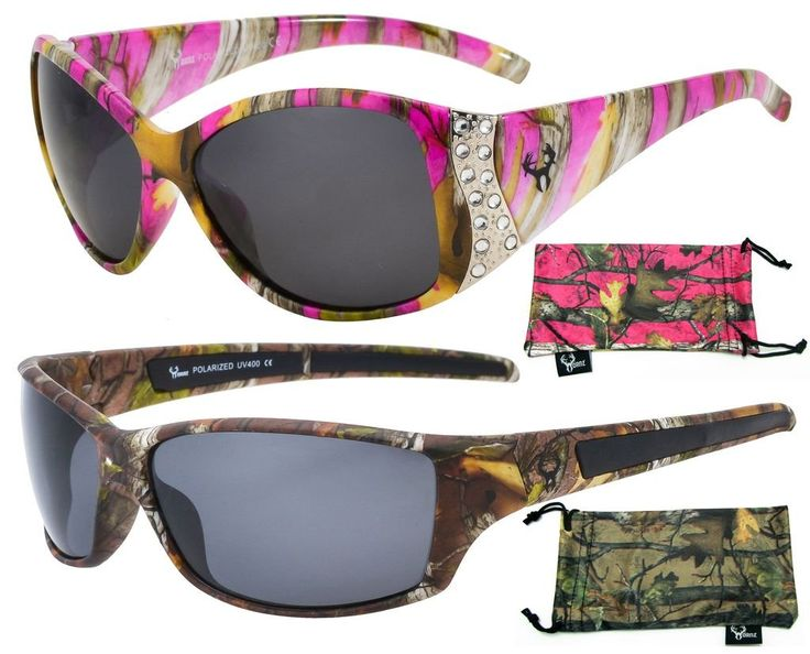 These make a great Christmas gift for any one who likes camo! His & Her's Polarized Camouflage Sunglasses - Pink Camo Sunglasses for Women & Forest Camo Sunglasses for Men - Sport Fishing Hunting Mudding Outdoors - Free Matching Microfiber Pouch
