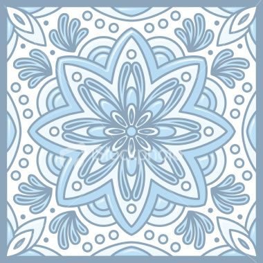 light blue mex tile
