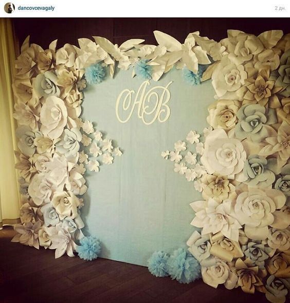 Wow! Gorg paper flower backdrop for any wedding