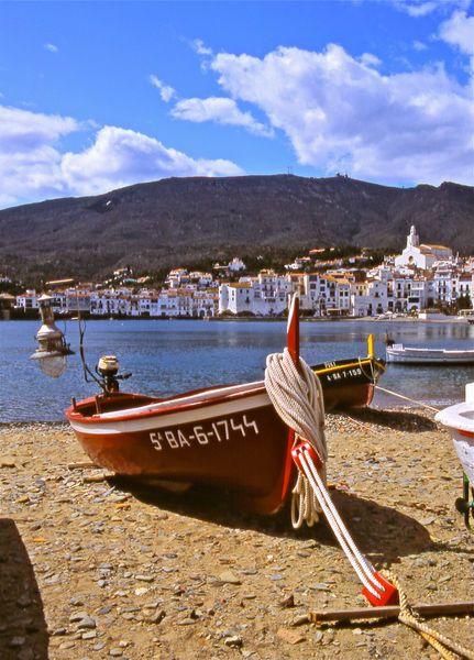 'Fishing Boats at Cadaques, Alt Empordà Catalonia by Alex Cassels