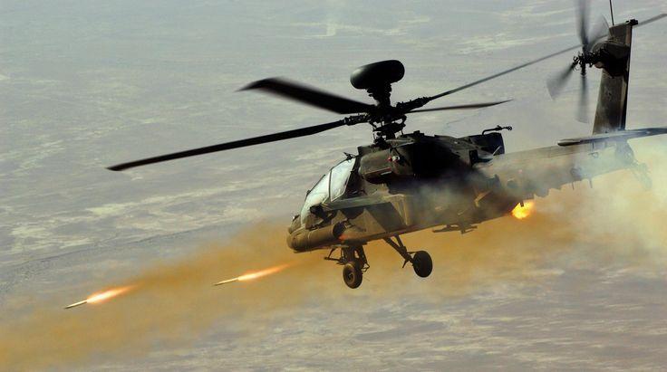 AH-64 Apache Helicopter In Action - AH-64 Apache Airstrikes, AH-64 Firin...