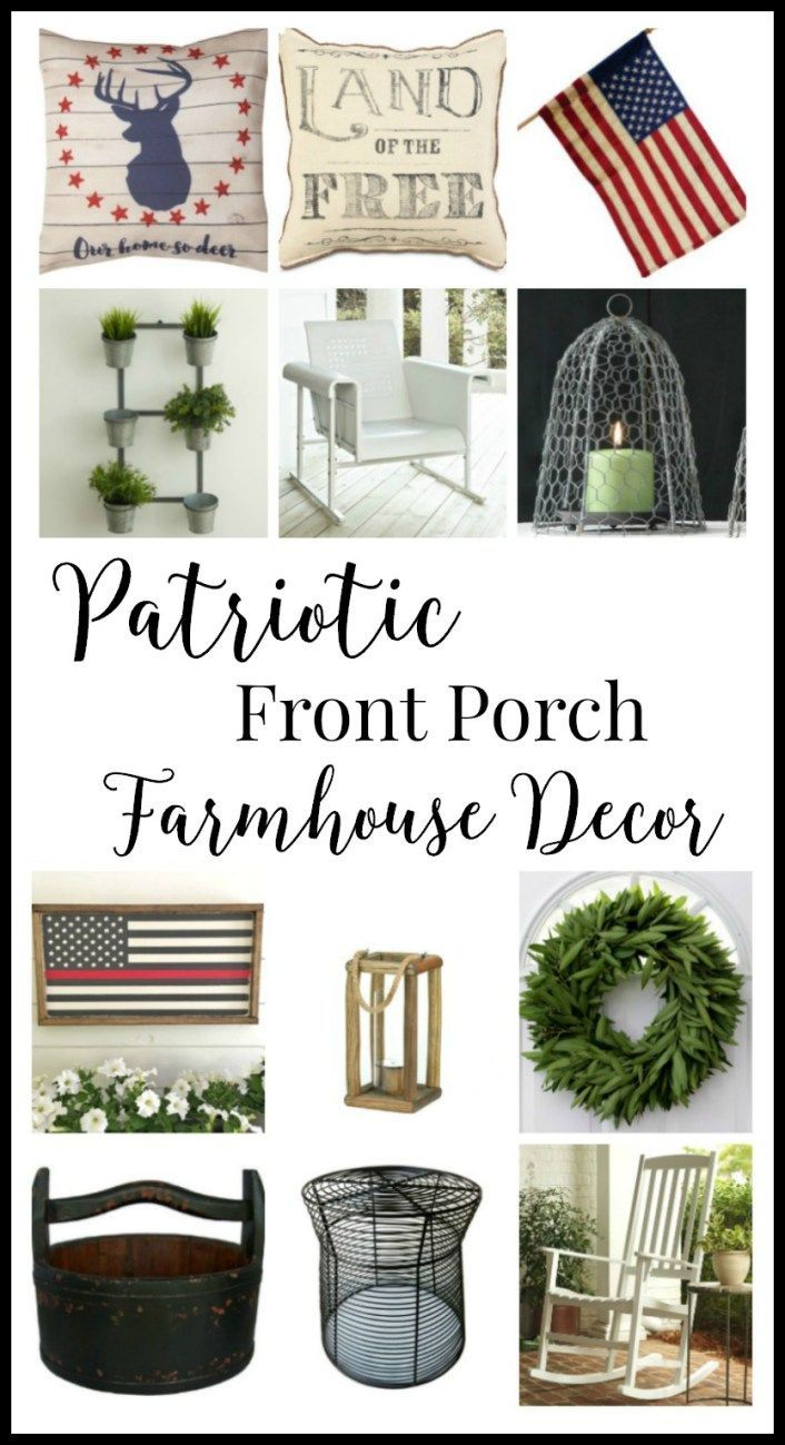 Be inspired with some amazing patriotic porch decor ideas. Am I the only one that wants to have a barbecue now?