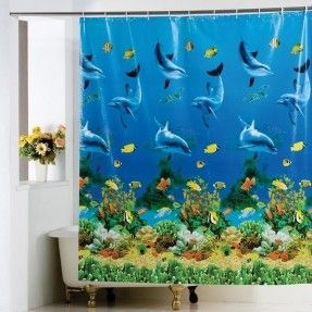 219 Ocean Shower Curtain ~