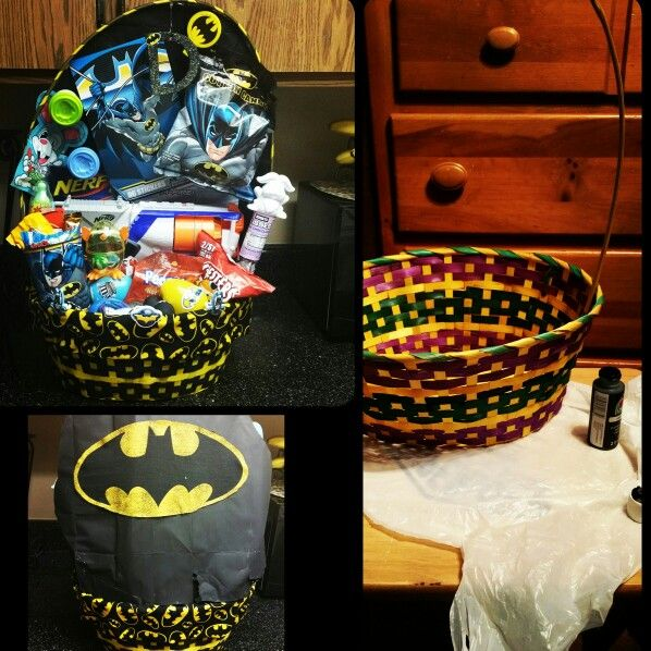 20 best my creations images on pinterest easter baskets gift batman easter basket negle Gallery