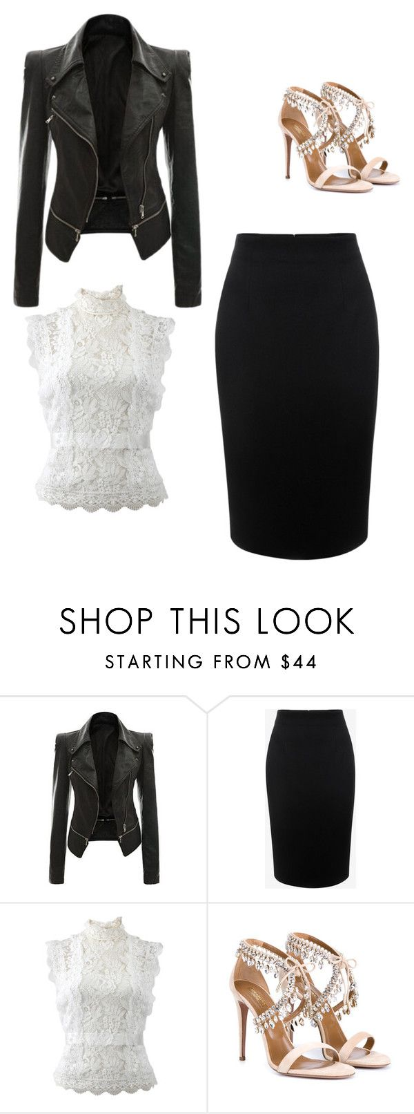 """""""Outfit for a Hourglass Body Shape"""" by aldjanedown on Polyvore featuring Alexander McQueen, Oscar de la Renta and Aquazzura"""