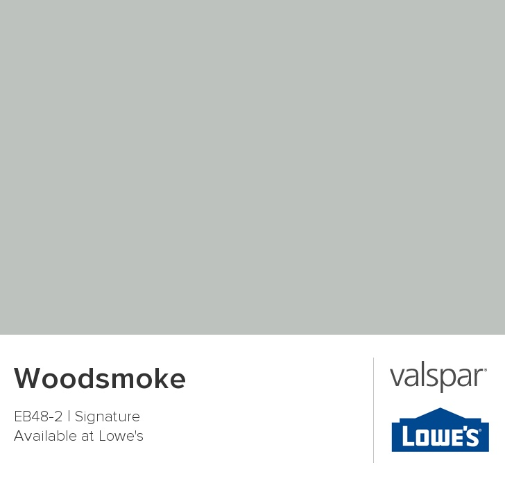 Woodsmoke from Valspar This is the kids bathroom color