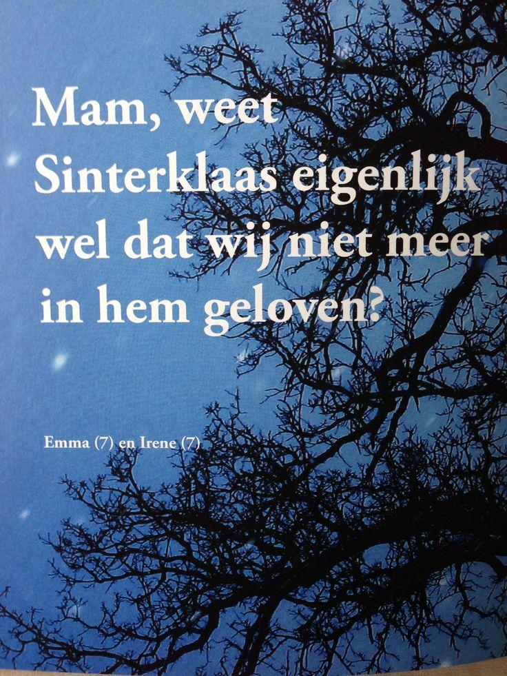Sinterklaas: uit 'Omdenken door kinderen'.