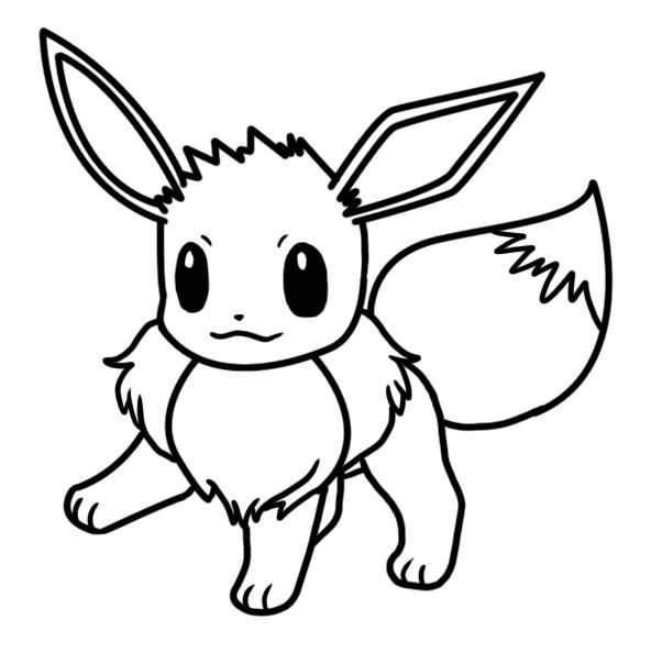 Eevee Coloring Page By Bellatrixie White Coloring Pages Baby Pokemon Pokemon Coloring