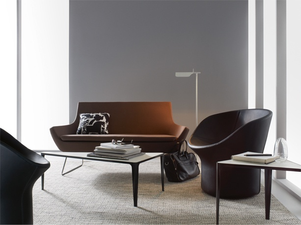 Happy lowback sofa and Avalon lounge setting (shown with Lime Table)