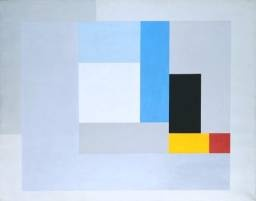 Ben Nicholson OM 1894-1982 Oil on canvas support: 1594 x 2013 mm frame: 1689 x 2100 x 77 mm painting