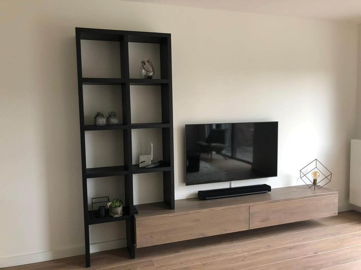 Wandschrank Eiche Oak Tv Cabinet Home Living Room Tv Unit Decor