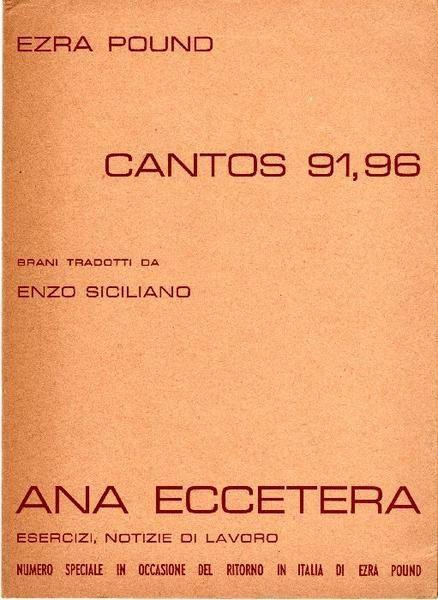Cantos 91, 96