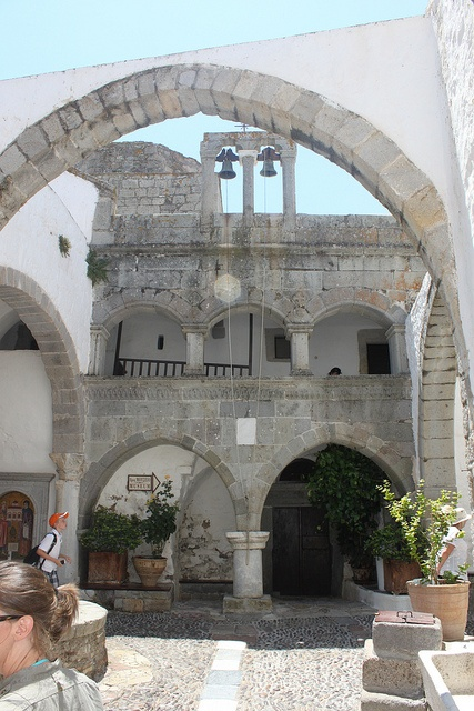 Patmos - the Greek island where St John pinned the book of Revelations of the Bible.
