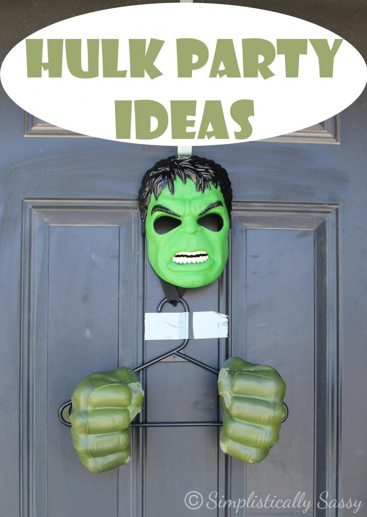 The Incredible Hulk Party Ideas - favors, desserts, activities and more! - Simplistically Sassy