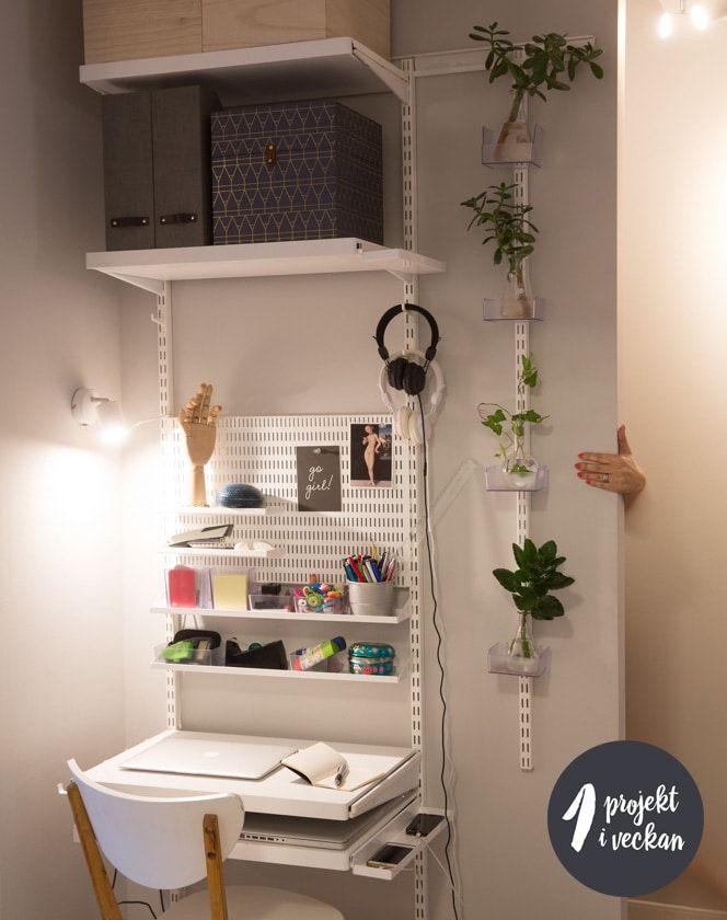 Alla kanske inte ett helt arbetsrum eller ett riktigt hemmakontor – men någonstans ska vi ta hand om det administrativa i vårt hem, förvara våra pärmar med de viktigaste pappren, intygen mm