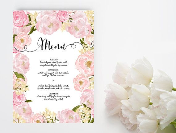 147 best Printable Wedding Stationary images on Pinterest - menu templates for word