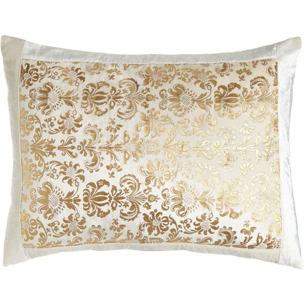 King Khari Print Sham ($130) ❤ liked on Polyvore featuring home, bed & bath, bedding, bed accessories, ivory gold, king size pillow shams, ivory pillow shams, beige bedding, king size shams e cream colored bedding