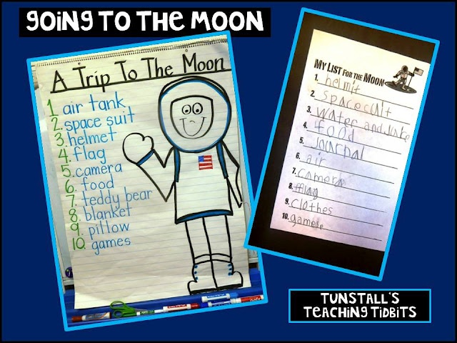 Going to the Moon lesson and craft