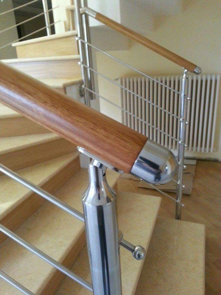 Oltre 25 fantastiche idee su ringhiere delle scale in for Scala interna in legno