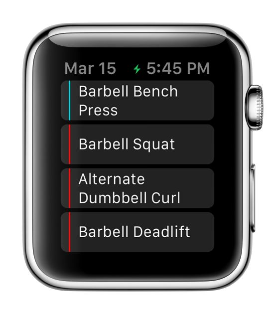 Apple Watch – Fitlist – Workout Log App, Fitness Tracker & Exercise Journal with Routines for Bodybuilding, Weightlifting, Gym & Strength Training