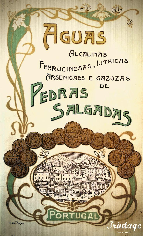 """Beba sem moderação, """"Pedras Salgadas"""", publicidade de 1912."""