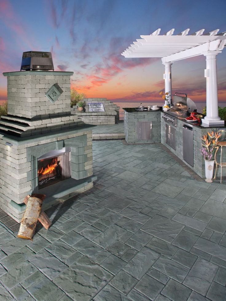 17 best images about cambridge fully assembled grills on for Precast concrete outdoor fireplace kits