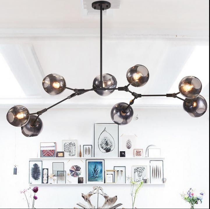 Glass Ball Branching Bubble Pendant Chandeliers For Dining Room Living Room Modern Chandelier Lighting Lustre Led Avize E27 Lamp-in Pendant Lights from Lights & Lighting on Aliexpress.com | Alibaba Group
