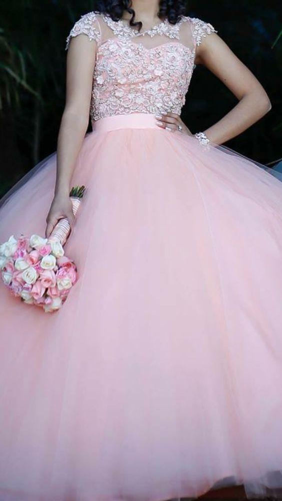 345e9df5909 Imagenes de vestidos de 15 anos estilo princesa (2)