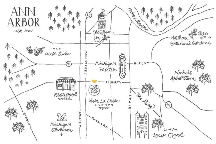 cutesy hand-drawn map