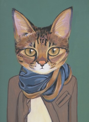 cat in scarf & jacket | Cats are People, Too | Pinterest: pinterest.com/pin/438045501225624895