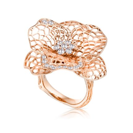 18ct Rose Gold Dress Ring | Hardy Brothers