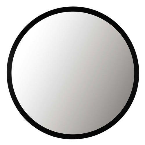 Spiegel Met Zwart Metalen Lijst D159 Douche Spiegel