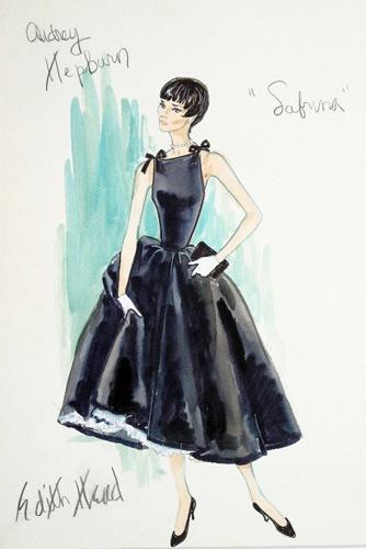 """Edith Head for Audrey Hepburn in """"Sabrina"""""""