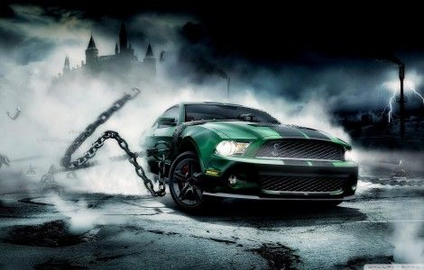 ford mustang shelby green