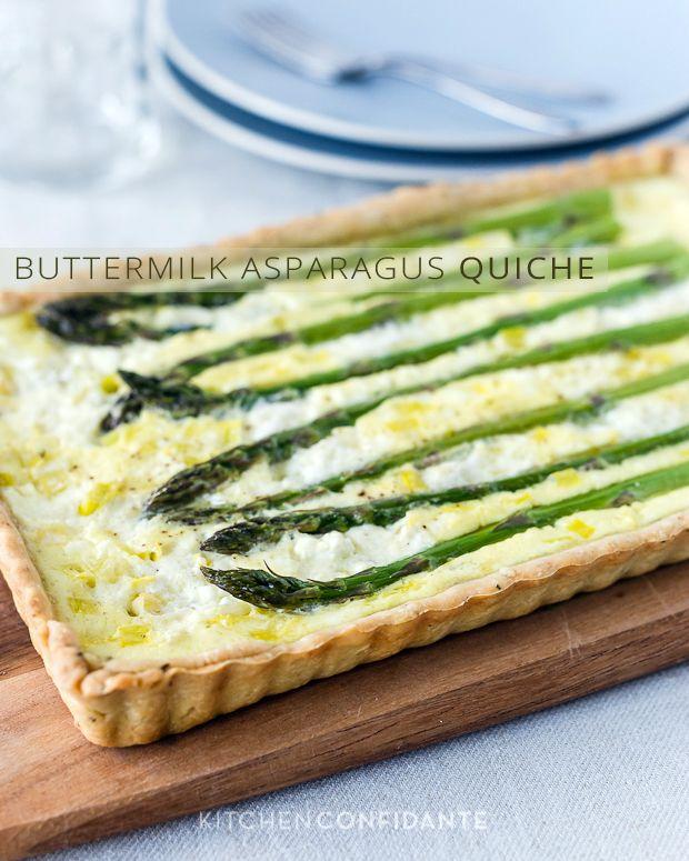 Buttermilk Asparagus Quiche | Kitchen Confidante