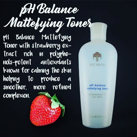 pH BALANCE MATTEFYING TONER  Clinical SKIN CARE without the CLINIC. Contains nourishing berries that help maintain flawless smooth skin.   #reduceshine   #finerpores   #refined   #refreshed   #allnatural  #nuskinph