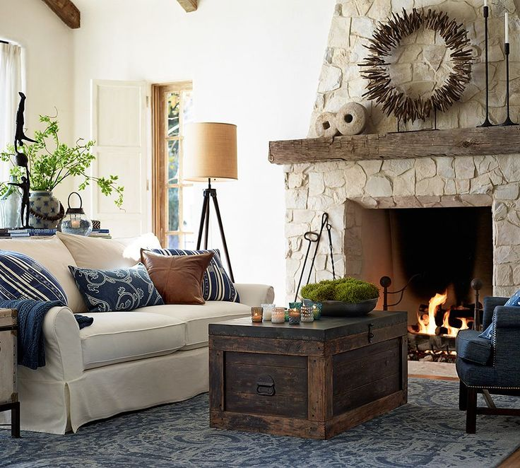 natural look - Pottery Barn Living Room Designs