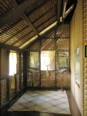 A traditional old Malay house verandah, provides great ventilation.