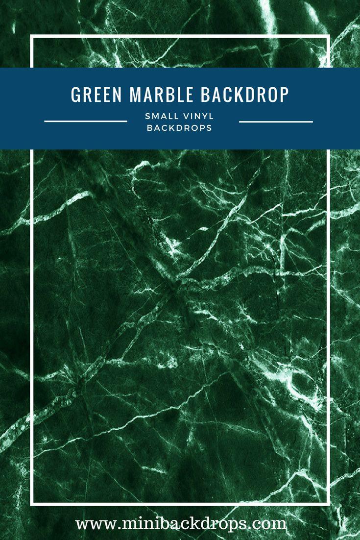 Green Marble - Mini Vinyl Backdrop - 026-s – Mini Backdrops