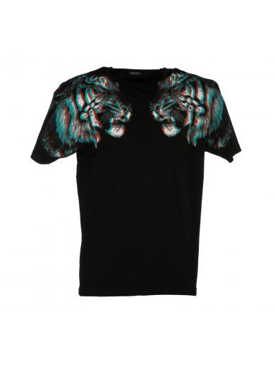 MARCELO BURLON Marcelo Burlon County Of Milan Tiger Hologram Print T-shirt. #marceloburlon #cloth #https: