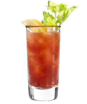 Bloody Mary -- made with canned tomatoes for those times you just have to have a Bloody Mary, but you don't have any tomato juice.