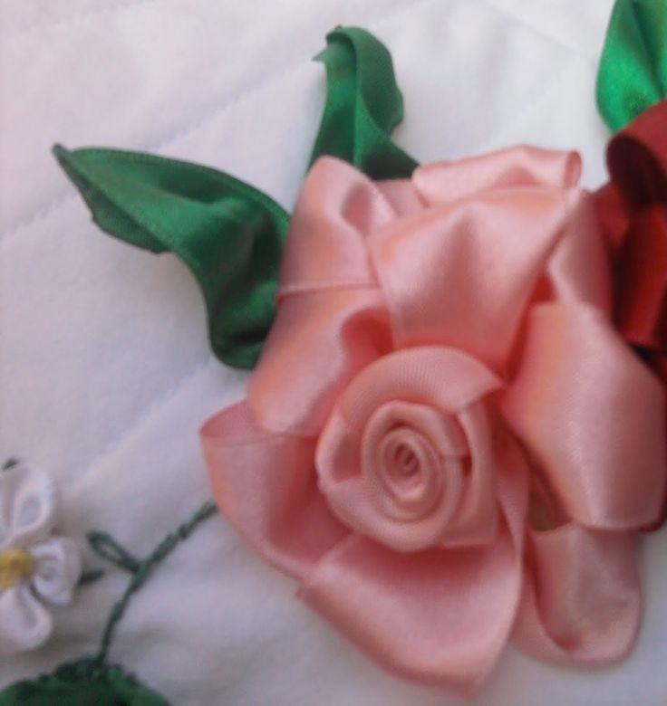 Flores de Cetim/ Rosa - Parte 1 Passo a Passo