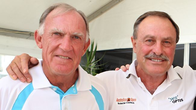 Tony Roche and John Newcombe were so electrifying, powerful and colourful as a doubles partnership that they make the brilliant Bryan twins, of today, look mechanical and in black and white. Along with Alan Border, Denis Lillee, Steve Waugh and Shane Warne they were nearly a reason to emigrate to Oz. They always appeared like great mates who believed they could climb out of any hole together. I'm sure they inspired me with my fab doubles partner, Dave Leigh, to be unconventional.