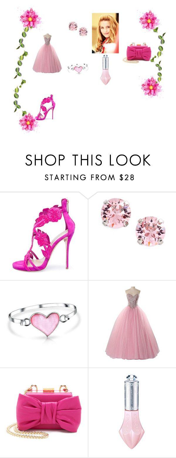 """rosa chic"" by iduranti on Polyvore featuring moda, Oscar de la Renta, L. Erickson, Bling Jewelry e Boutique Moschino"