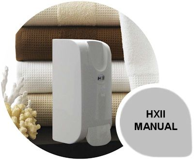 HXII Manual: The HXII soap system is available in a manual unit that has the ability to dispense liquid, foam and gel formulations through a sealed cartridge and pump system.